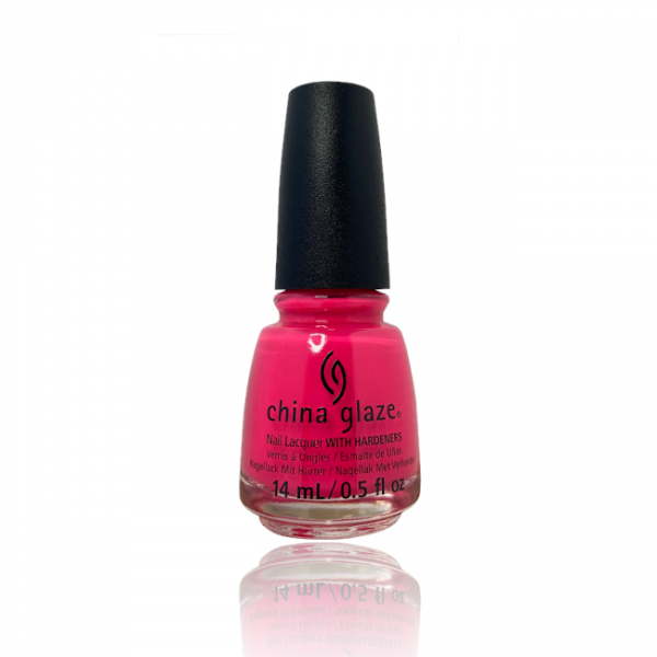 JenaesNails - China Glaze- Rose Among Thorns neon