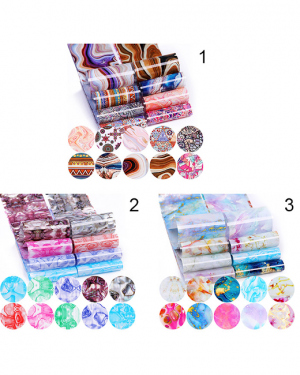 JenaesNails - Born Pretty - 10 Pc Of Foil Nail Art Sticker