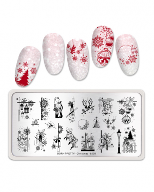 JenaesNails - Born Pretty - Christmas Stamping Plate L009-1