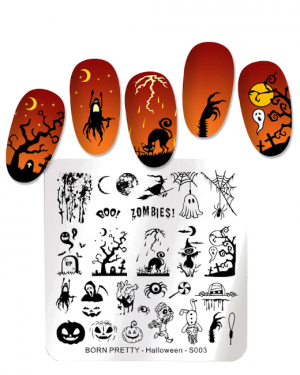 JenaesNails - Born Pretty - Stamping Plates Halloween Artist S003