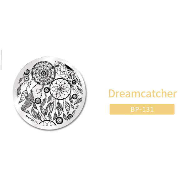 JenaesNails - Born Pretty - Round Dreamcatcher Stamping Plate BP131