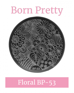 JenaesNails - Born Pretty - Round Floral Stamping Plate BP53