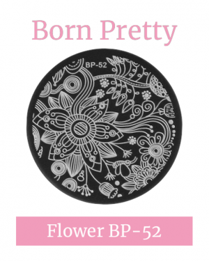 JenaesNails - Born Pretty - Round Flower Stamping Plate BP52