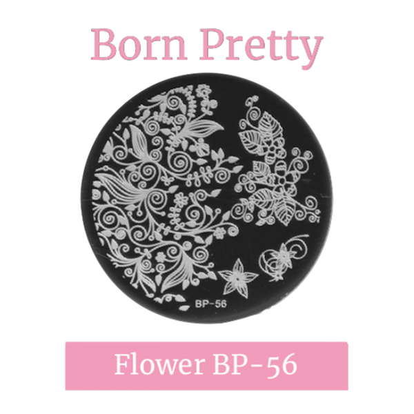 JenaesNails - Born Pretty - Round Flower Stamping Plate BP56
