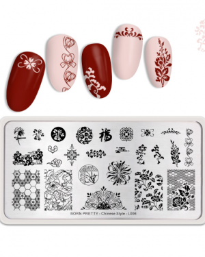 JenaesNails - Born Pretty - Chinese Flower L006