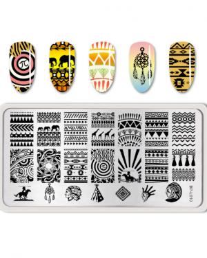 Born Pretty - Aztec Stamping Plate L010