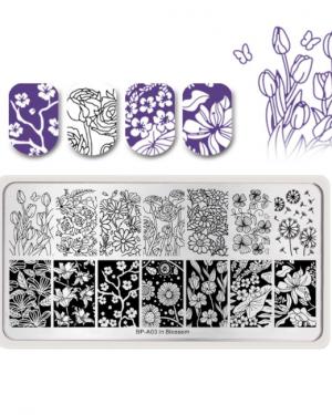Born Pretty - Blossom Stamping Plate A03