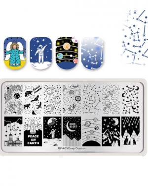 Born Pretty - Deep Cosmos Stamping Plate A09