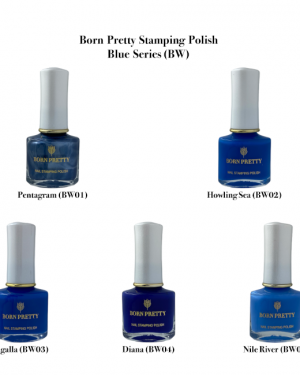 Born Pretty Blue Stamping Polish Series