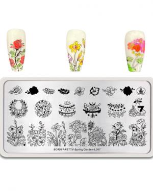 Born Pretty Spring Garden-L007 Stamping Plate