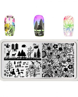 Born Pretty Stamping Plate Forest and Flowers BP-L011